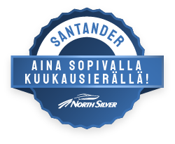 North Silver veneet aina sopivalla kuukausi erällä Santanderilta.